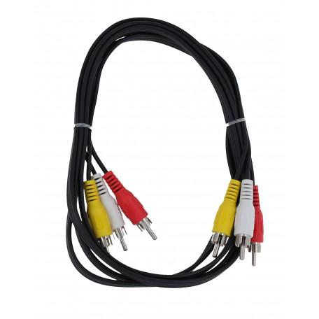 Stereo connector 3*RCA / 3*RCA