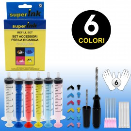 superInk Refill Set (6 colors)