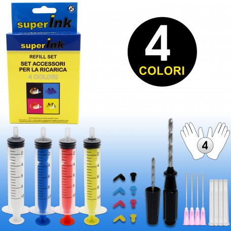 superInk Refill Set (4 colori)