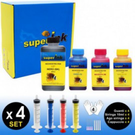 SI-KIT-INK-Small (HP) (4 colori dye)