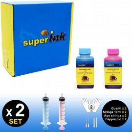 SI-KIT-INK-Foto-100 (HP) (2 colori dye)