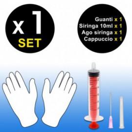 Syringe 10ml (Magenta) + gloves