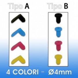 Kit Tappini in silicone da 4mm (4 colori)
