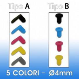 Kit Silicone Plug 4mm (5 colors)