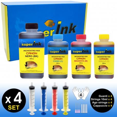 SI-KIT-INK-Medium (Canon) (4 colors dye)